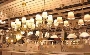 32243881 - lamps and lighting fixtures in the store